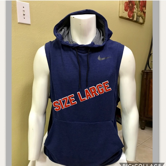 best loved 3db2a 7718f Nike Men Training Running Sleeveless Hoodie Large